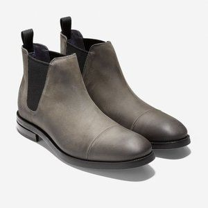 Cole Haan Grand Wagner Chelsea Boot Leather Gray